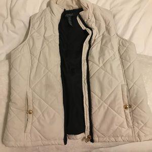 Ralph Lauren white puffer vest